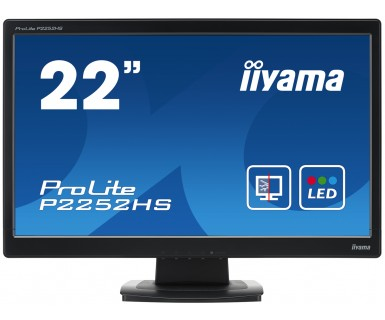 iiyama ProLite P2252HS-B1 22Inch HD Wide Screen 8H Hard Glass Black