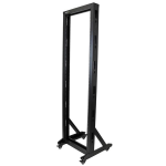 StarTech.com 2-Post Server Rack with Casters - 42U