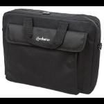 "Manhattan London Laptop Bag 15.6"", Top Loader, Accessories Pocket, Shoulder Strap (removable), , Black, Three Year Warranty"