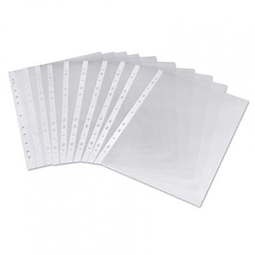 Pro Office Value Punched Pockets A4 Medium Weight Glass Clear PK100