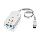 Aten UC100KMA cable interface/gender adapter USB A 6-pin Mini-DIN White