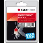 AgfaPhoto APCCLI551XLSET ink cartridge Black, Cyan, Magenta, Yellow 4 pc(s)
