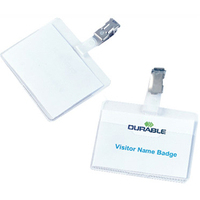 Durable BADGE 60X90MM CLIP ON LCAPE PK25 8106