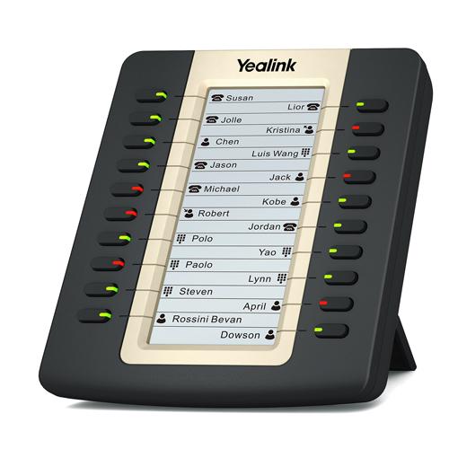 Yealink EXP20 IP phone Black LCD