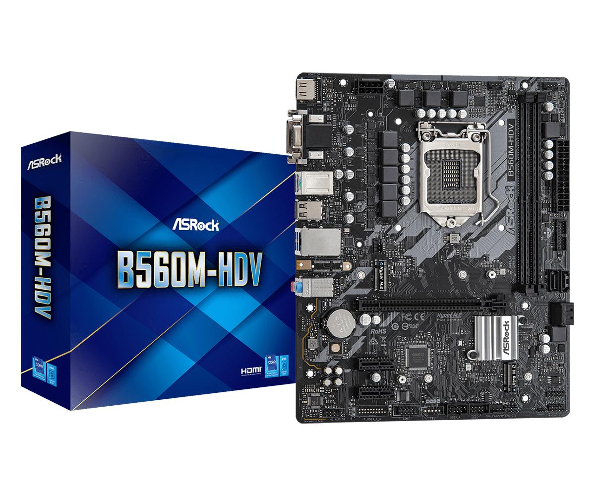 Asrock B560M-HDV Intel B560 LGA 1200 micro ATX