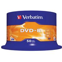 DVD-r Media 4.7GB 16x Matt Silver 50-pk With Spindle