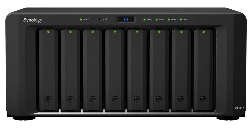 Synology DiskStation DS1817 servidor de almacenamiento Ethernet Escritorio Negro NAS