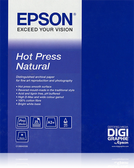 "Epson Hot Press Natural 44""x 15m"