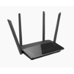 D-Link AC1200 Dual Band router inalámbrico Doble banda (2,4 GHz / 5 GHz) Gigabit Ethernet Negro