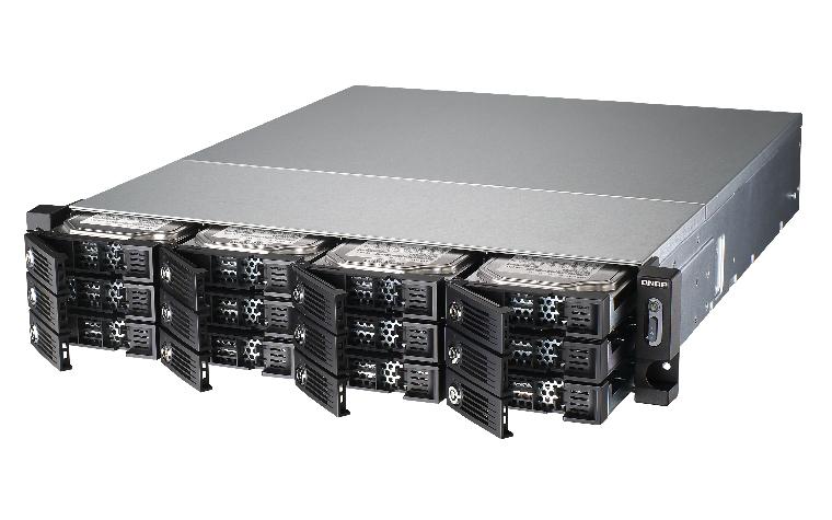 QNAP TS-1253U NAS Rack (2U) Ethernet LAN Black
