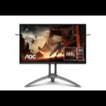 "AOC AGON 3 AG273QX computer monitor 68.6 cm (27"") 2560 x 1440 pixels Quad HD LCD Black, Red"