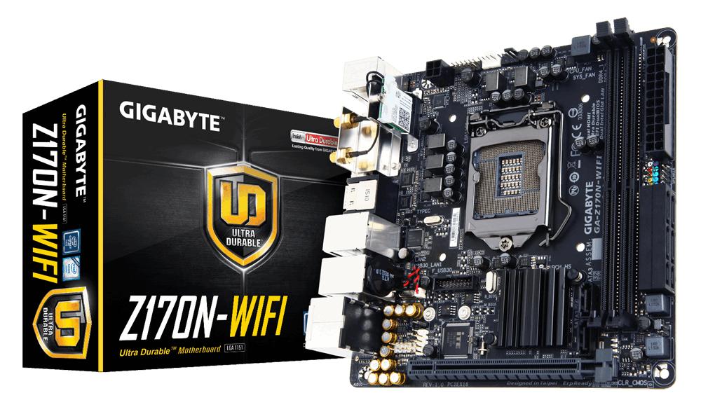 Gigabyte GA-Z170N-WIFI (rev. 1.0) Intel® Z170 Express Chipset Mini ITX motherboard