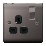 Nexus NBN21B Nickel socket-outlet