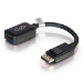 C2G 20cm DisplayPort M / HDMI F Displayport M HDMI F Black cable interface/gender adapter