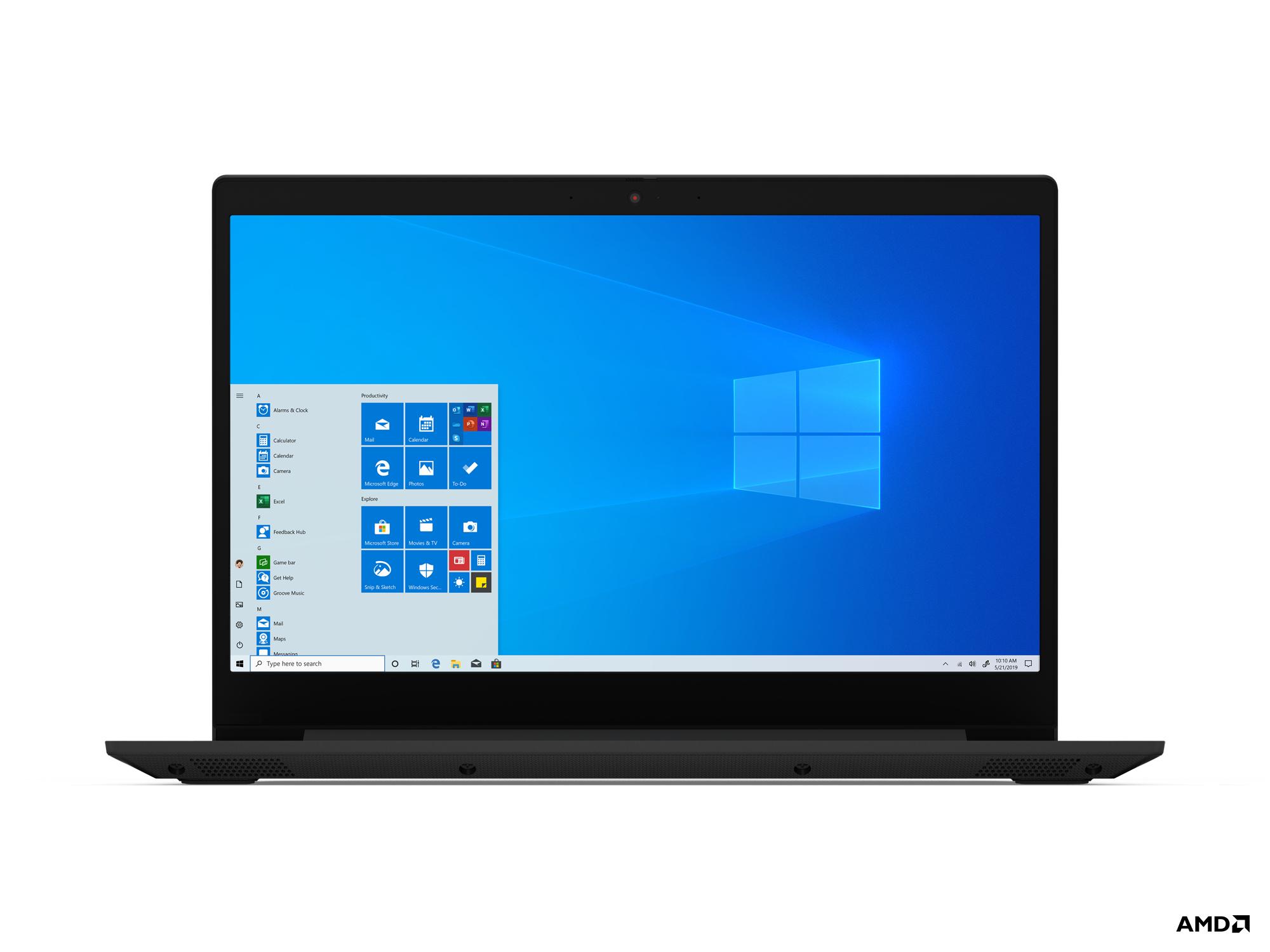 """Lenovo IdeaPad 3 Notebook 39.6 cm (15.6"""") Full HD AMD 3000 4 GB DDR4-SDRAM 128 GB SSD Wi-Fi 5 (802.11ac) Windows 10 Home S Black"""