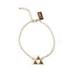 Nintendo Legend of Zelda Triforce Logo Charm Bracelet, Female, Gold (WB100407ZEL)