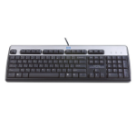 HP 701429-041 USB QWERTZ German Black, Silver keyboard