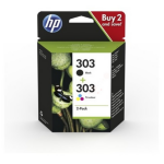 HP 3YM92AE (303) Printhead multi pack, 4ml, Pack qty 2