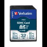 Verbatim Pro memory card 32 GB SDHC Class 10 UHS