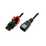 Microconnect 3m C13/C14 3m C13 coupler C14 coupler Black power cable