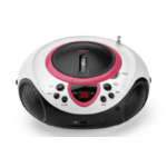 Lenco SCD-38 USB rosa Personal CD player Red