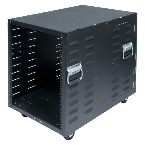 RackSolutions RACK-117-12 rack cabinet 12U Freestanding rack Black