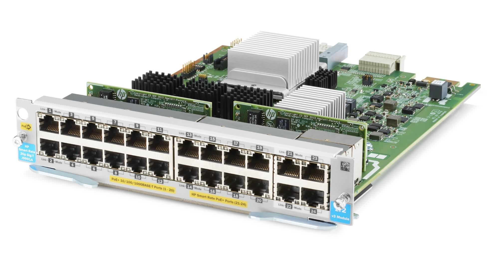 Hewlett Packard Enterprise 20-port 10/100/1000BASE-T PoE+ / 4-port 1/2.5/5/10GBASE-T PoE+ MACsec v3 zl2 network switch module