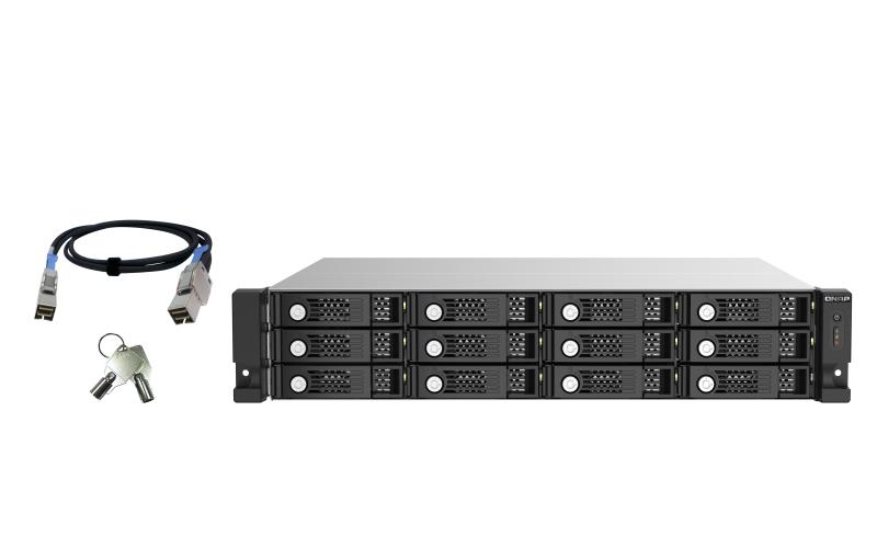 "QNAP TL-R1220Sep-RP 2.5/3.5"" Carcasa de disco duro/SSD Negro, Gris"