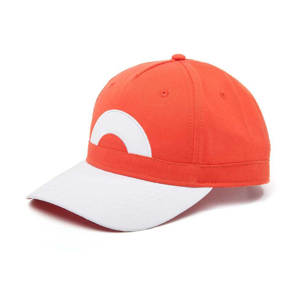 Pokémon Ash Ketchum Snapback Baseball Cap, One Size, Orange/Grey (BA091721POK)