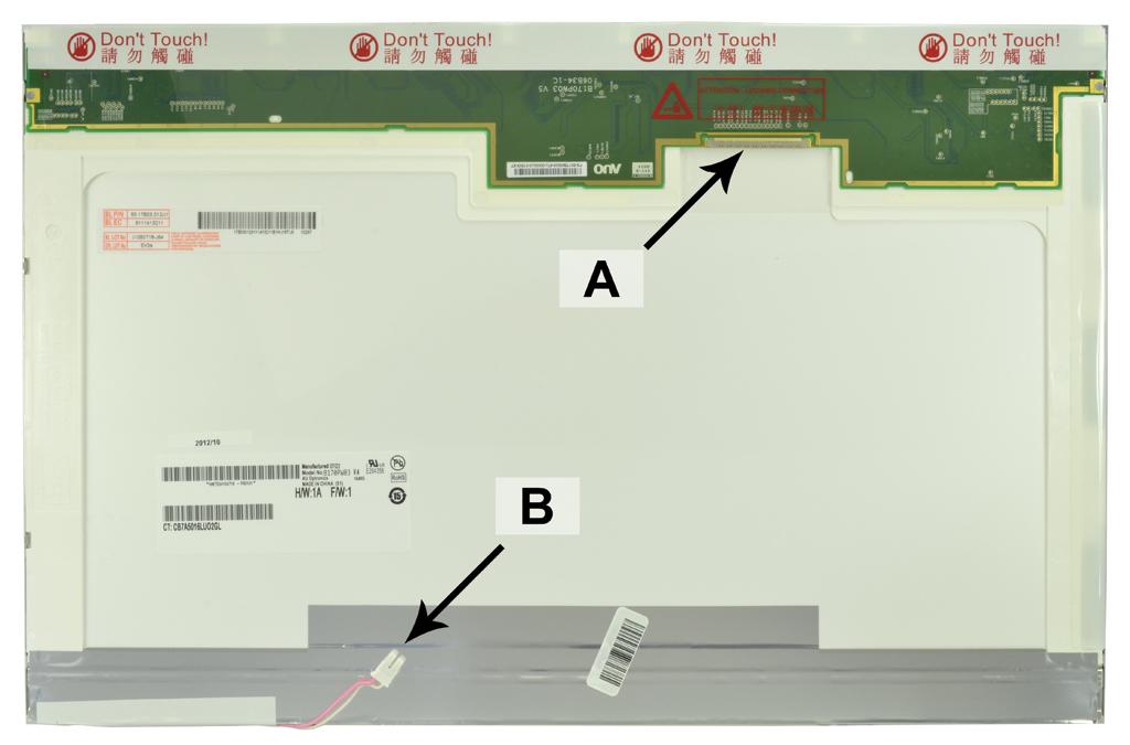2-Power 17.1 WXGA+ 1440x900 CCFL1 Glossy Screen - replaces QD17TL02 Rev.02