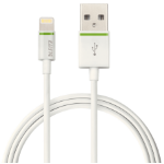 Leitz 62090001 0.3m USB A Lightning Green, White mobile phone cable