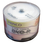 PRINCO 50 Discs DVD-R 16X 50PK Printable Blank DVD MEDIA