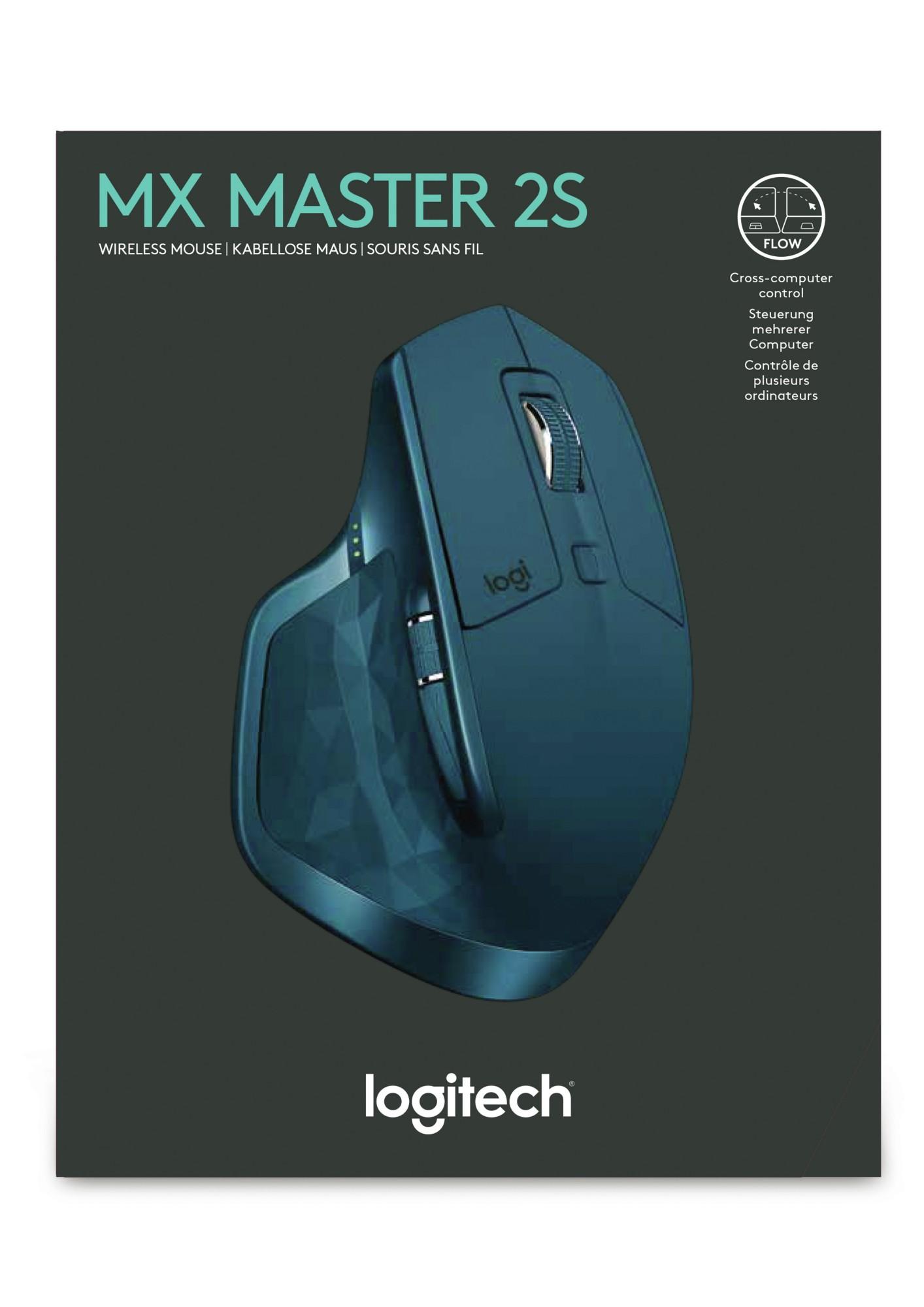 Logitech MX Master 2S RF Wireless Laser 1000DPI Right-hand Blue mice