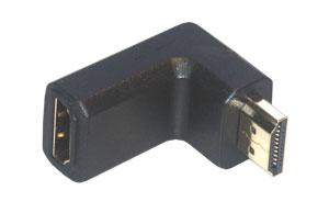 MCL Adapteur HDMI M / FM Coude 19-pin HDMI-A Naranja