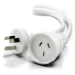 ALOGIC 5m Aus 3 Pin Mains Power Extension Cable WHITE - Male to Female