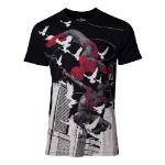 Marvel Spider-Man Miles Morales Print T-Shirt, Male, Extra Extra Large, Black (TS301832SPN-2XL)