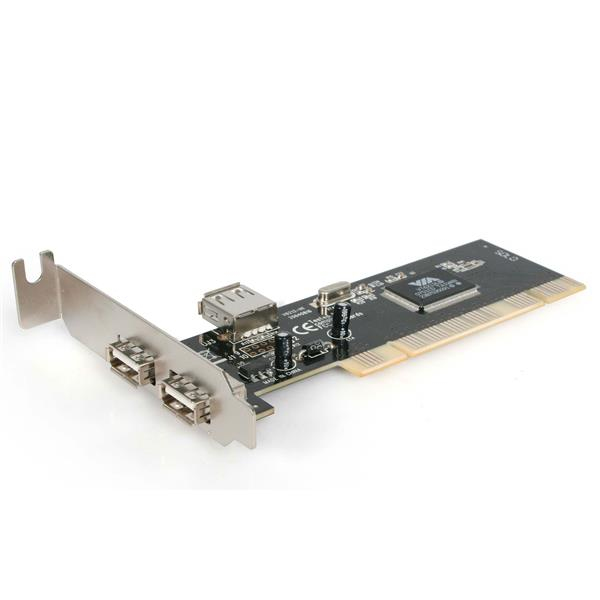 StarTech.com 3 Port PCI Low Profile High Speed USB 2.0 Adapter Card