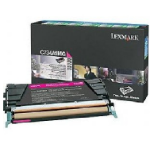 Lexmark C734A4MG Toner, Return Program, 5000 Page-Yield, Magenta