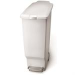 FSMISC SLIM WHITE PEDAL BIN 40L 382649