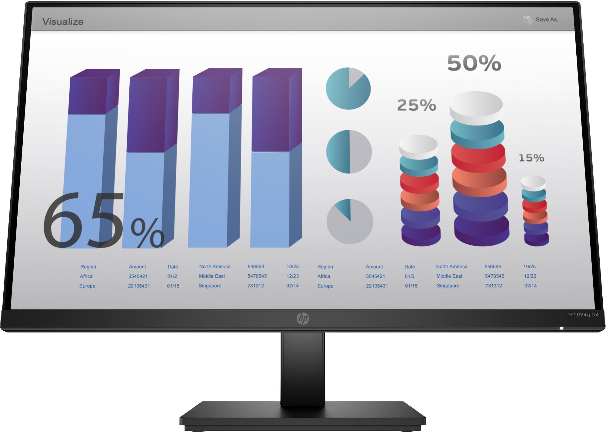 "HP P24q G4 60,5 cm (23.8"") 2560 x 1440 Pixeles Quad HD LED Negro"