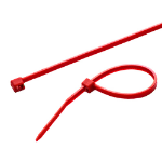 Cablenet Cabletie 2.5mm x 100mm Red (PK 100)