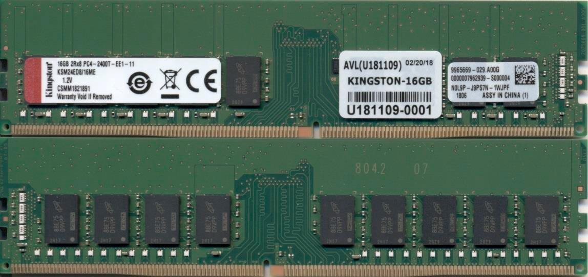 Kingston Technology KSM24ED8/16ME módulo de memoria 16 GB DDR4 2400 MHz ECC