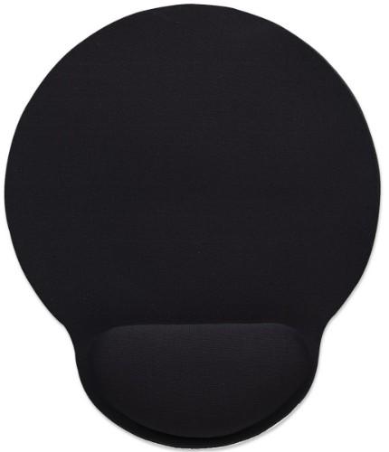 Manhattan Wrist-Rest Mouse Pad, Gel, non slip base, Black