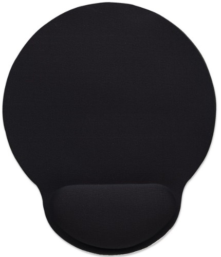 Manhattan Wrist-Rest Mouse Pad, Gel, non slip base, Black