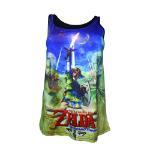 NINTENDO Legend of Zelda Skyward Sword Women's Sublimation Tank Top, Extra Large (TS230625NTN-XL)