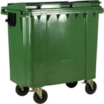 FSMISC 1100L GREEN WHEELED BIN / LID 377397395
