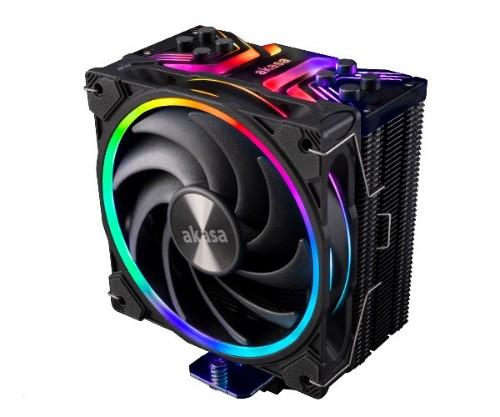 Akasa Soho H4 Processor Cooler 12 cm Black 1 pc(s)