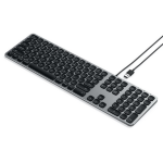 Satechi Wired Keyboard for MacBook Pro/Air, MacBook, iPhone XS Max/XS/XR, 8 Plus/8, iPad Mini, iOS Space Grey