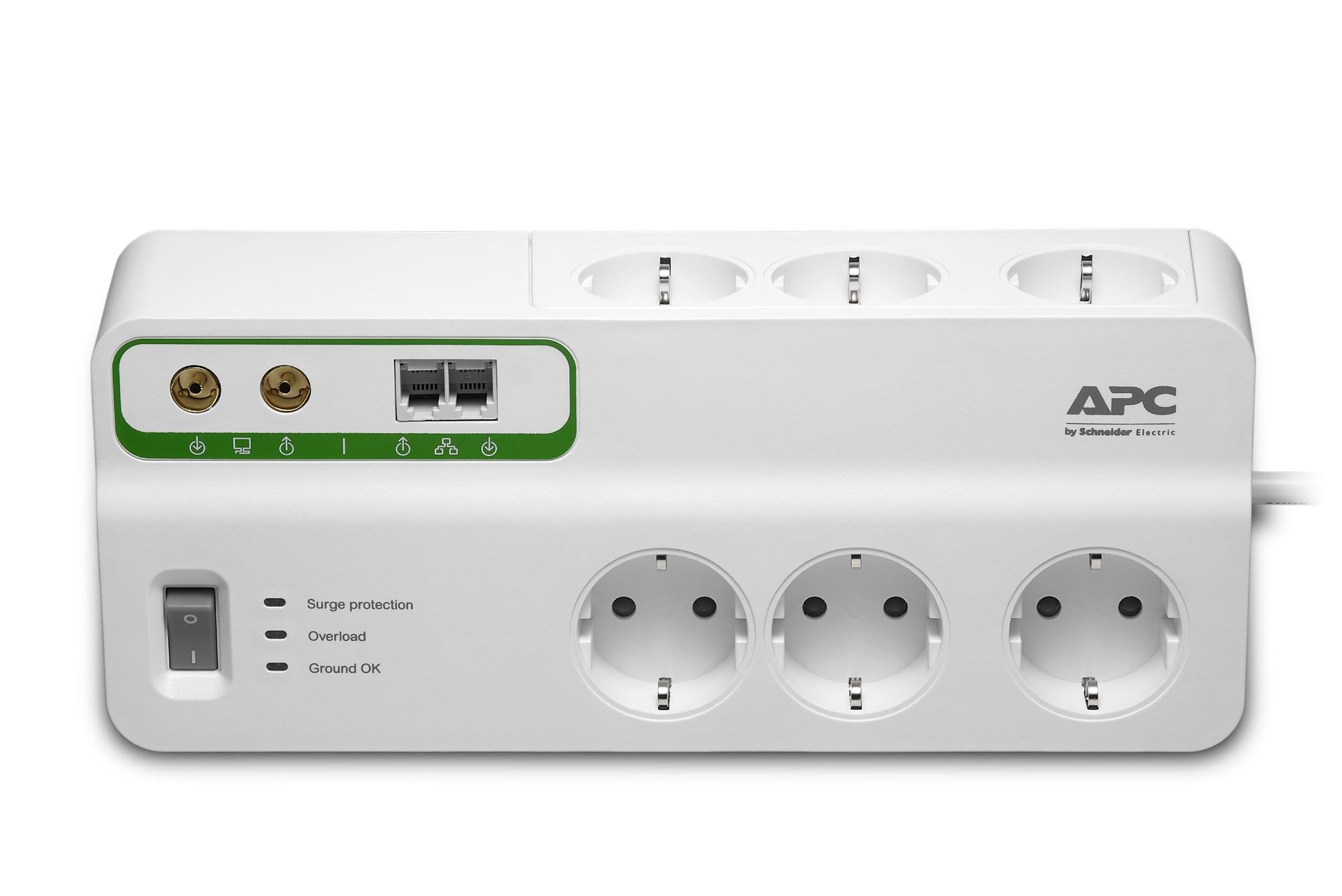 APC PMH63VT-GR Überspannungsschutz 6 AC-Ausgänge 230 V 22,74 m Weiß