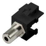 Cablenet 3.5mm Stereo Female - Female Keystone Black